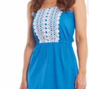 Bohemian Lace Strapless Womens Dress NWT Sz Medium